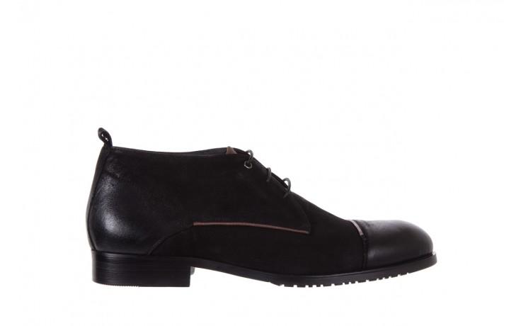 Trzewiki brooman 7738b-702h642-r black, czarny, skóra naturalna  - obuwie wizytowe - dla niego - sale