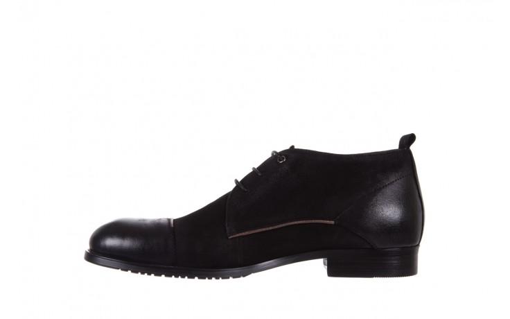 Trzewiki brooman 7738b-702h642-r black, czarny, skóra naturalna  - obuwie wizytowe - dla niego - sale 2