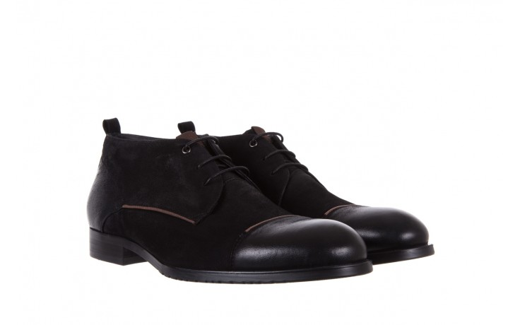 Trzewiki brooman 7738b-702h642-r black, czarny, skóra naturalna  - obuwie wizytowe - dla niego - sale 1