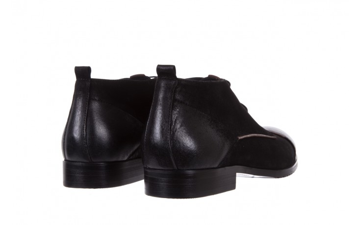 Trzewiki brooman 7738b-702h642-r black, czarny, skóra naturalna  - obuwie wizytowe - dla niego - sale 3