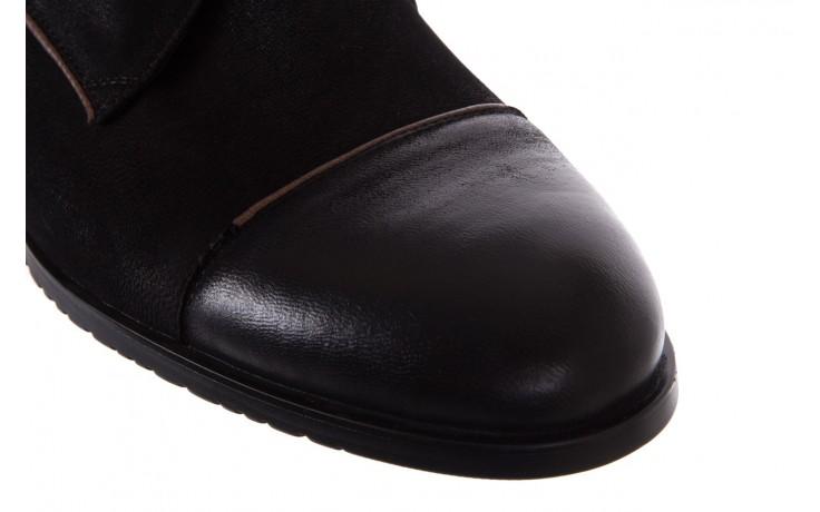 Trzewiki brooman 7738b-702h642-r black, czarny, skóra naturalna  - brooman - nasze marki 5