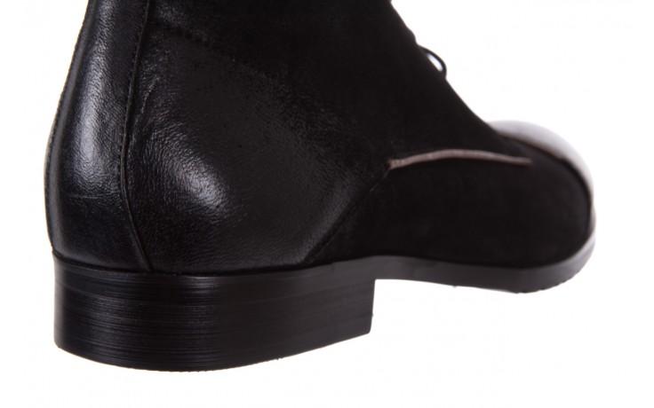 Trzewiki brooman 7738b-702h642-r black, czarny, skóra naturalna  - obuwie wizytowe - dla niego - sale 6