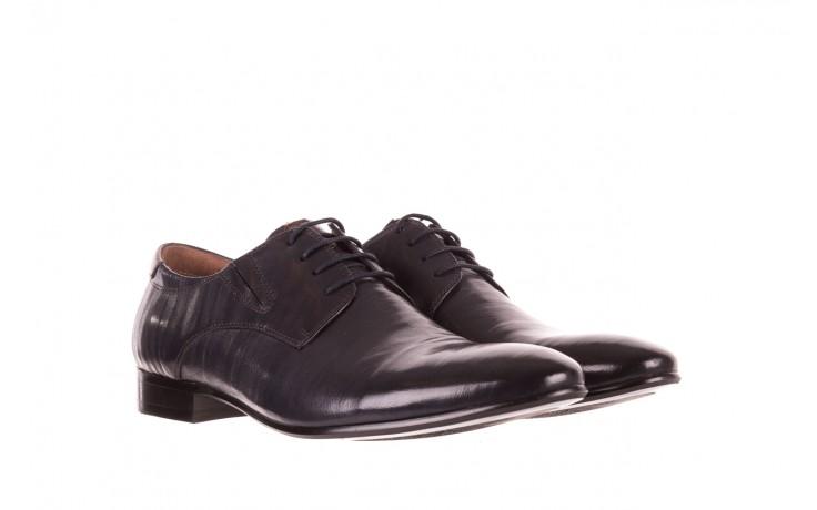 Półbuty brooman 7760-07h677 blue, granat, skóra naturalna  - wizytowe - półbuty - buty męskie - mężczyzna 1