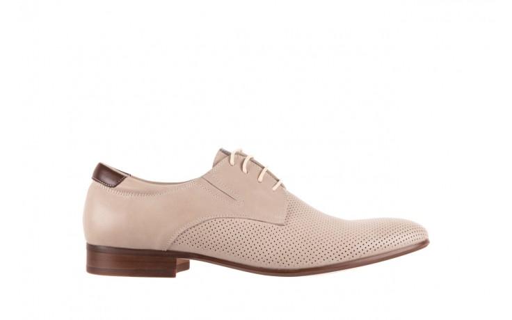 Półbuty brooman 7760-207h721 beige, beż, skóra naturalna  - obuwie wizytowe - buty męskie - mężczyzna