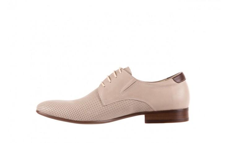 Półbuty brooman 7760-207h721 beige, beż, skóra naturalna  - obuwie wizytowe - buty męskie - mężczyzna 2
