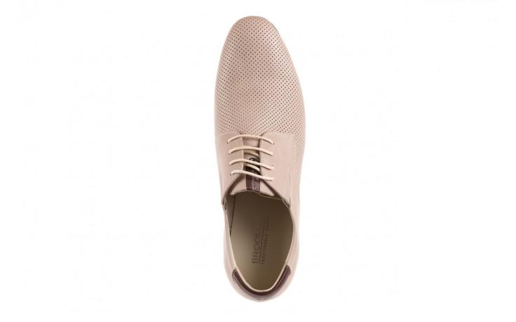 Półbuty brooman 7760-207h721 beige, beż, skóra naturalna  - obuwie wizytowe - buty męskie - mężczyzna 4