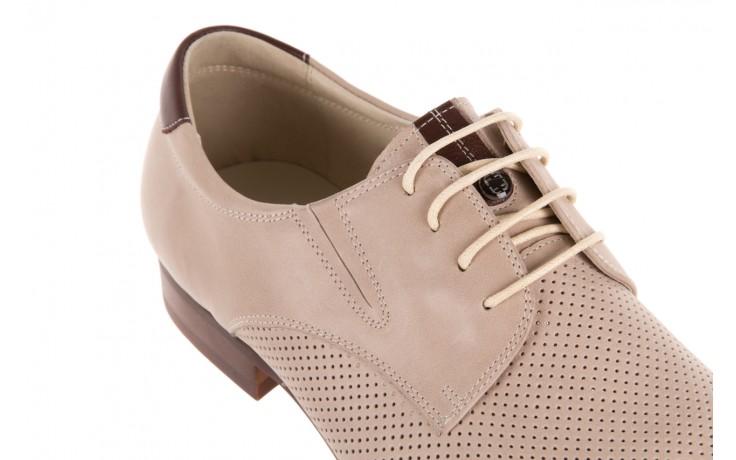 Półbuty brooman 7760-207h721 beige, beż, skóra naturalna  - wizytowe - półbuty - buty męskie - mężczyzna 5