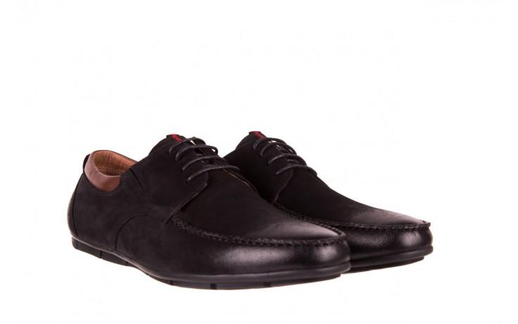 Półbuty brooman 7769-12h642 black 18, czarny, skóra naturalna  - półbuty - dla niego - sale 1