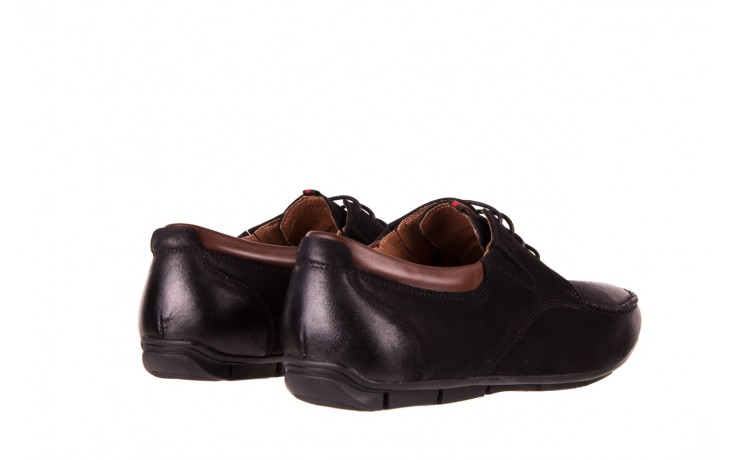 Półbuty brooman 7769-12h642 black 18, czarny, skóra naturalna  - półbuty - dla niego - sale 3