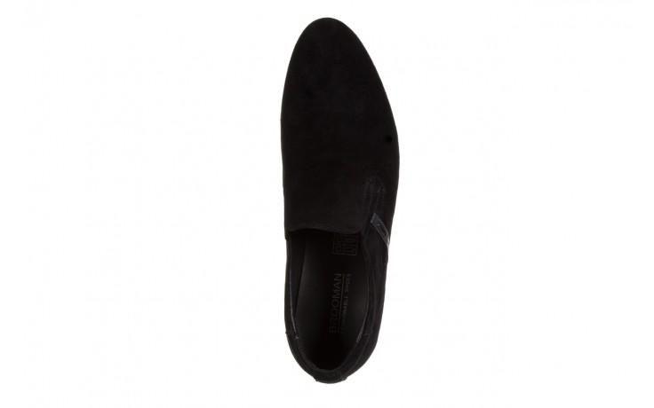 Półbuty brooman a8115-106-2 black 104046, czarny, skóra naturalna  - brooman - nasze marki 4