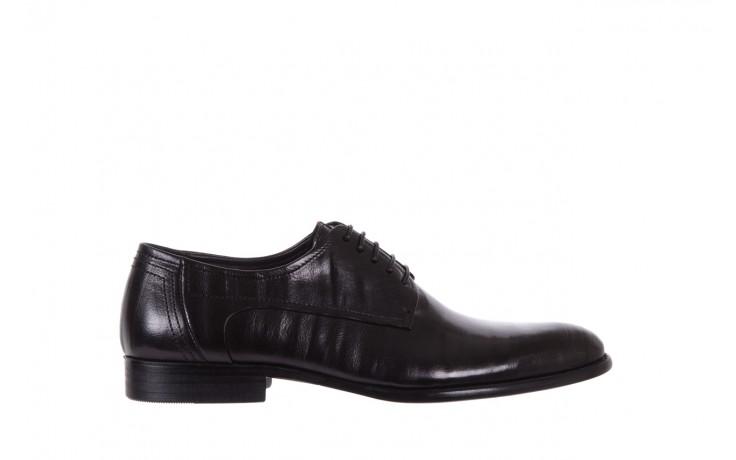 Półbuty brooman c19-358-1 black, czarny, skóra naturalna  - obuwie wizytowe - buty męskie - mężczyzna