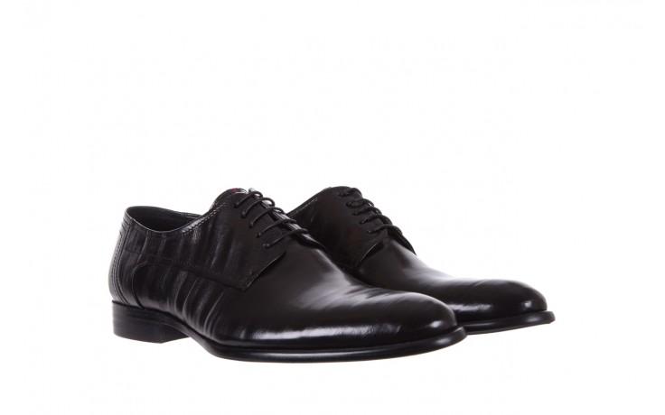 Półbuty brooman c19-358-1 black, czarny, skóra naturalna  - obuwie wizytowe - buty męskie - mężczyzna 1