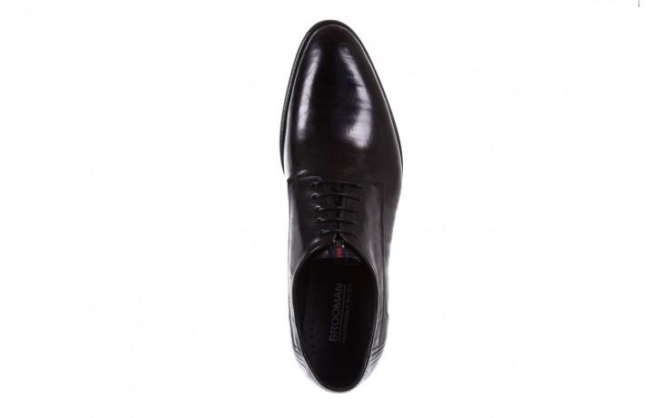 Półbuty brooman c19-358-1 black, czarny, skóra naturalna  - obuwie wizytowe - buty męskie - mężczyzna 4
