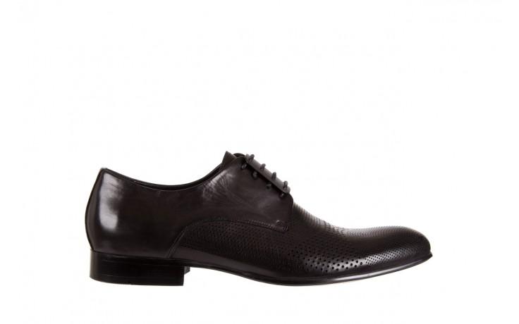 Półbuty brooman da8111-101-1 black, czarny, skóra naturalna  - rozmiar 45 - mężczyzna - mega okazje - ostatnie rozmiary