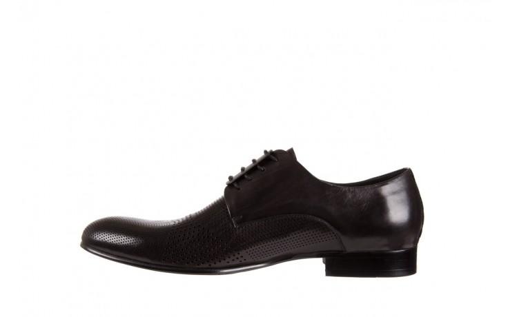 Półbuty brooman da8111-101-1 black, czarny, skóra naturalna  - rozmiar 45 - mężczyzna - mega okazje - ostatnie rozmiary 2