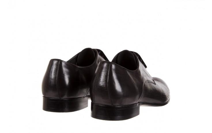 Półbuty brooman da8111-101-1 black, czarny, skóra naturalna  - rozmiar 45 - mężczyzna - mega okazje - ostatnie rozmiary 3