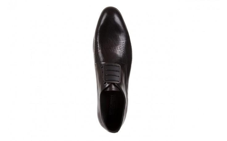 Półbuty brooman da8111-101-1 black, czarny, skóra naturalna  - rozmiar 45 - mężczyzna - mega okazje - ostatnie rozmiary 4