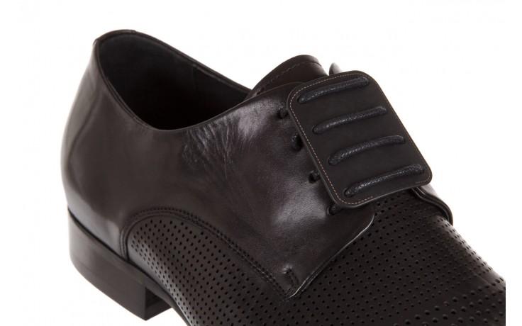 Półbuty brooman da8111-101-1 black, czarny, skóra naturalna  - rozmiar 45 - mężczyzna - mega okazje - ostatnie rozmiary 5
