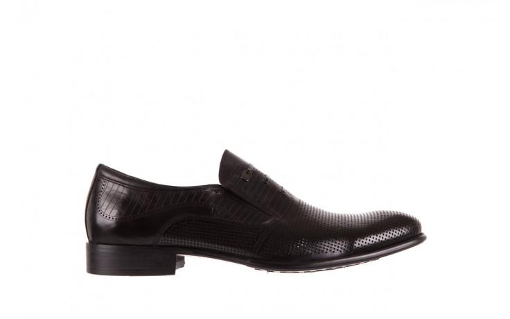 Półbuty brooman dc56-119-a689 black, czarny, skóra naturalna - obuwie wizytowe - buty męskie - mężczyzna
