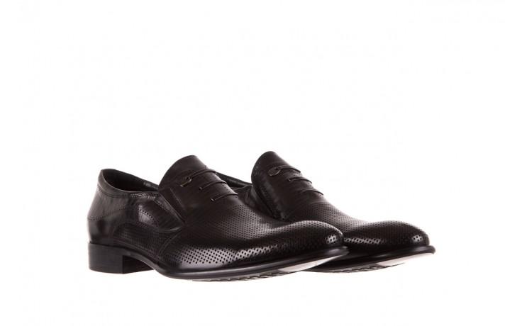Półbuty brooman dc56-119-a689 black, czarny, skóra naturalna - obuwie wizytowe - buty męskie - mężczyzna 1