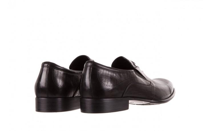 Półbuty brooman dc56-119-a689 black, czarny, skóra naturalna - obuwie wizytowe - buty męskie - mężczyzna 3
