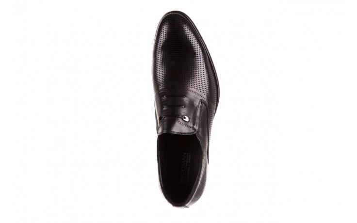 Półbuty brooman dc56-119-a689 black, czarny, skóra naturalna - obuwie wizytowe - buty męskie - mężczyzna 4