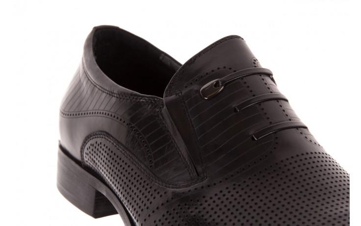 Półbuty brooman dc56-119-a689 black, czarny, skóra naturalna - obuwie wizytowe - buty męskie - mężczyzna 5