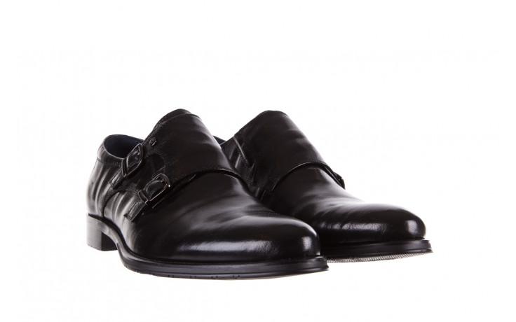 Półbuty brooman ja088-931a-j17 black 21 104179, czarny, skóra naturalna  - wizytowe - półbuty - buty męskie - mężczyzna 1