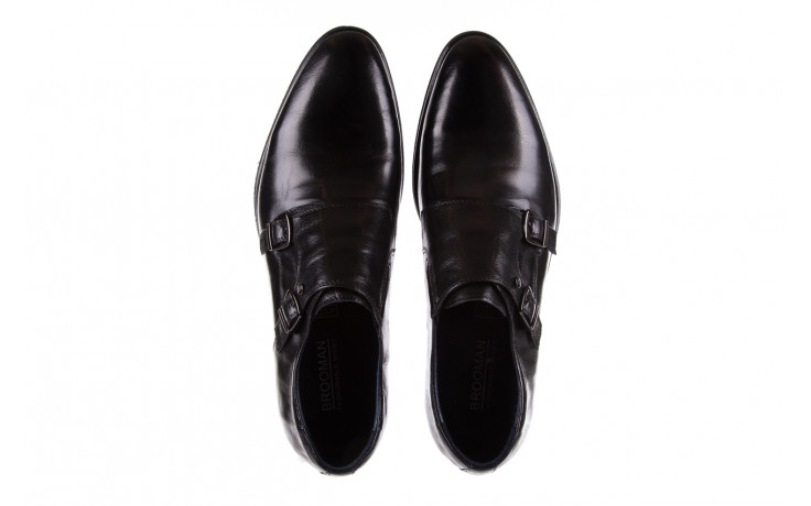 Półbuty brooman ja088-931a-j17 black 21 104179, czarny, skóra naturalna  - wizytowe - półbuty - buty męskie - mężczyzna 4