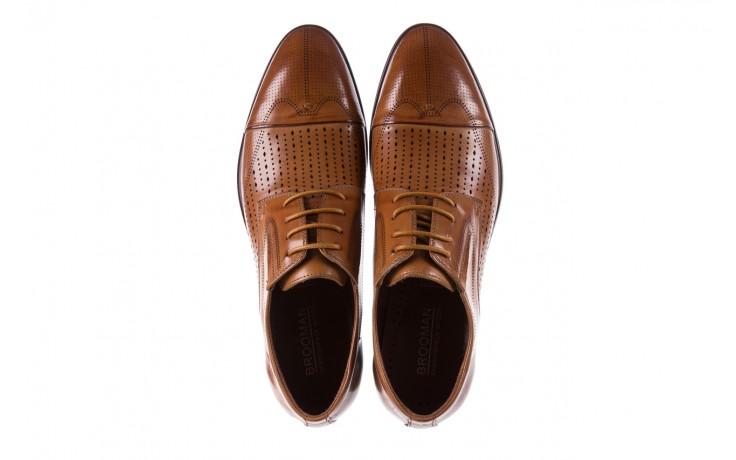 Półbuty brooman jb135-907-c19 brown, brąz, skóra naturalna  - brooman - nasze marki 4