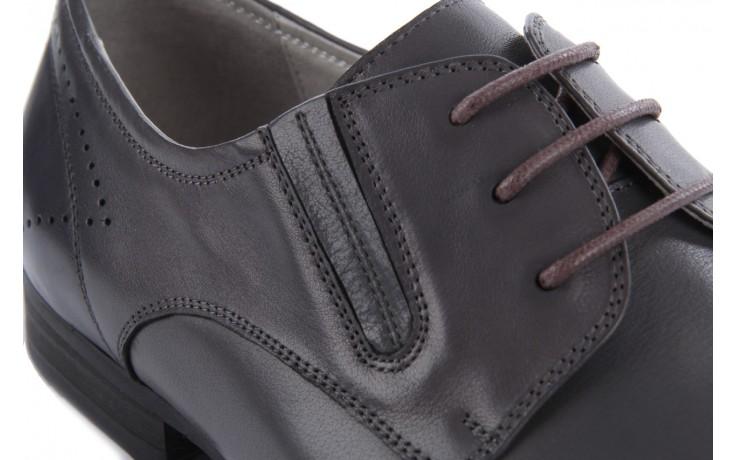 Półbuty brooman john doubare 2501-1-11 grey, szary, skóra naturalna - brooman - nasze marki 6