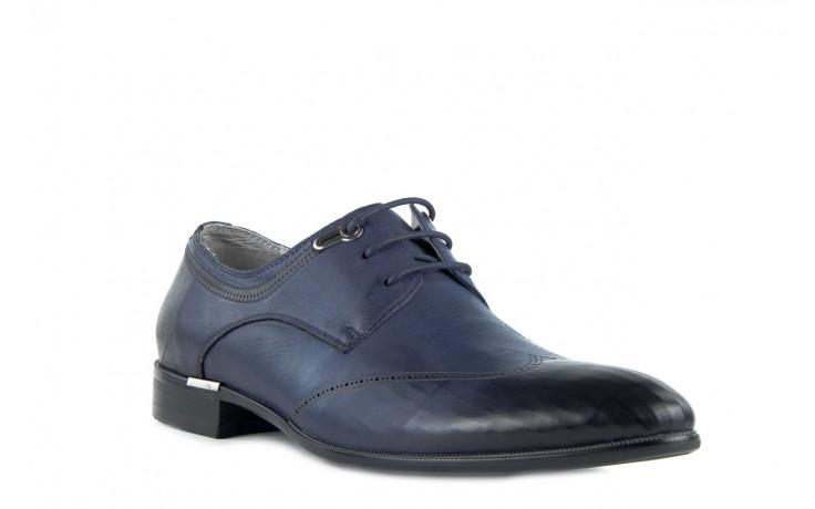 Półbuty brooman john doubare 2583-3-3 blue, granat, skóra naturalna  - brooman - nasze marki 2