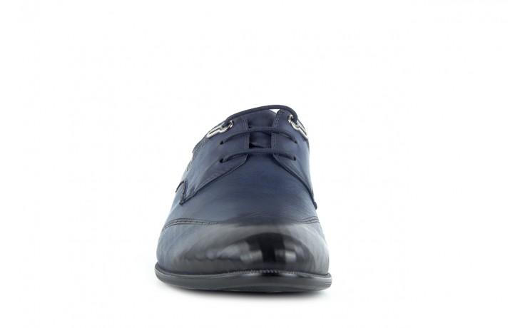 Półbuty brooman john doubare 2583-3-3 blue, granat, skóra naturalna  - brooman - nasze marki