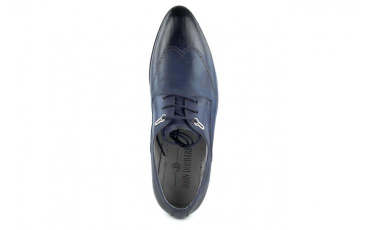 Półbuty brooman john doubare 2583-3-3 blue, granat, skóra naturalna  - brooman - nasze marki 5
