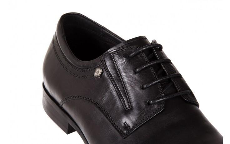 Półbuty brooman john doubare 2701-6-1 black, czarny, skóra naturalna 5