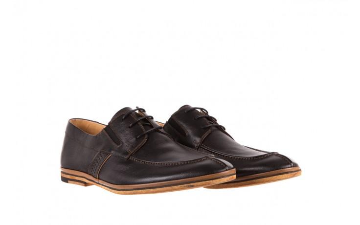 Półbuty brooman john doubare hs75-1-1 black, czarny, skóra naturalna  - brooman - nasze marki 1