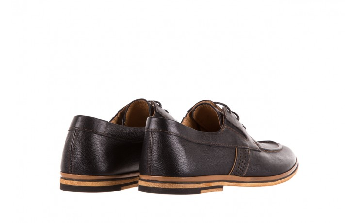 Półbuty brooman john doubare hs75-1-1 black, czarny, skóra naturalna  - dla niego - sale 3