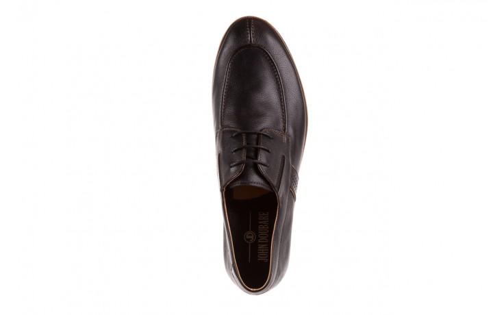 Półbuty brooman john doubare hs75-1-1 black, czarny, skóra naturalna  - dla niego - sale 5