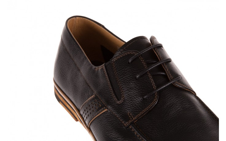 Półbuty brooman john doubare hs75-1-1 black, czarny, skóra naturalna  - dla niego - sale 4