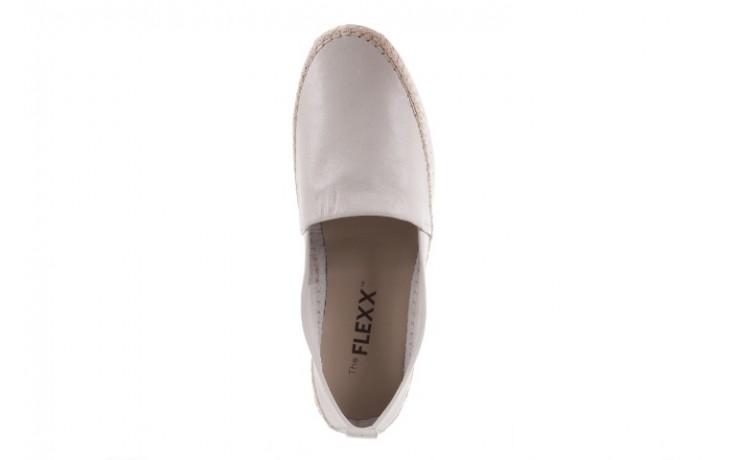 Mokasyny the flexx chazan vacchetta white, biały, skóra naturalna  - the flexx - nasze marki 4