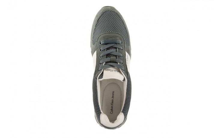 Sneakersy calvin klein jeans dusty mesh washed nubuck smoot dusty blue, zielony, skóra/materiał - calvin klein jeans - nasze marki 4