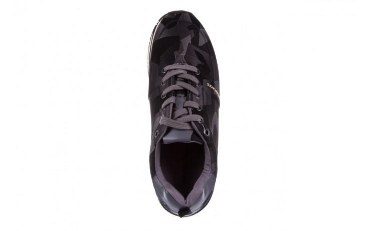 Trampki calvin klein jeans everly camouflage jacquard dark grey, szary, materiał - trampki - buty męskie - mężczyzna 4