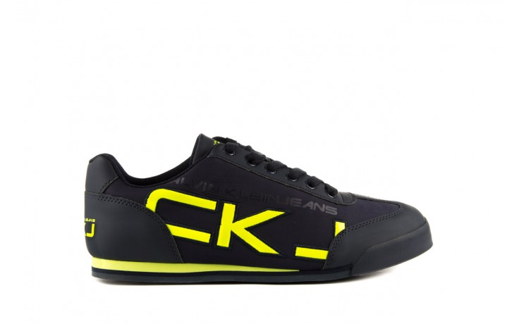 Calvin klein jeans cale matte smooth patent navy yellow