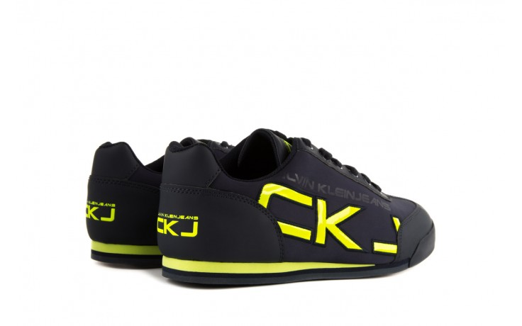 Calvin klein jeans cale matte smooth patent navy yellow 3
