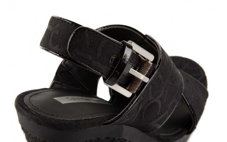 Calvin klein jeans elaine ck logo jacquard patent black 5