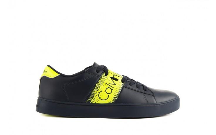Calvin klein jeans luis matte smooth print navy yellow