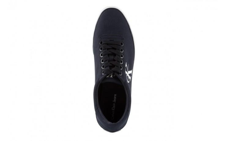 Trampki calvin klein jeans oscar canvas navy, granat, materiał 4