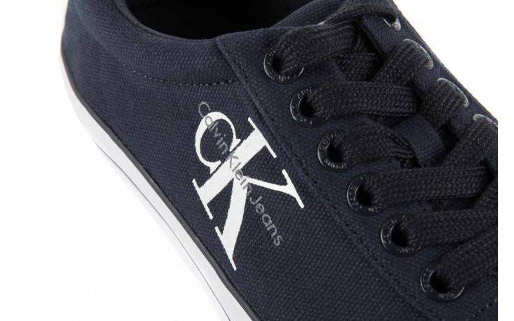 Trampki calvin klein jeans oscar canvas navy, granat, materiał 5