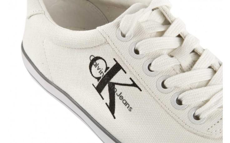 Trampki calvin klein jeans oscar canvas white, biały, materiał - calvin klein jeans - nasze marki 5