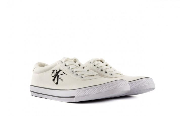 Trampki calvin klein jeans oscar canvas white, biały, materiał - calvin klein jeans - nasze marki 1